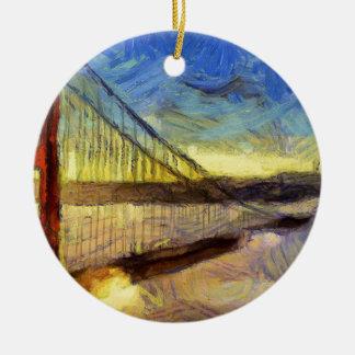 vangogh losangelasbridge ceramic ornament
