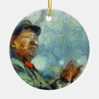 vangogh maozedong ceramic ornament