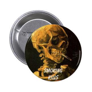 vangogh_skull_cigarette, Smokingkills Button