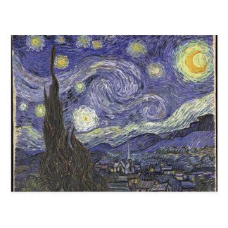 vangogh-starry night postcard