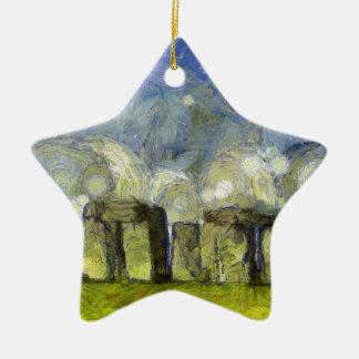 vangogh stonehenge ceramic ornament