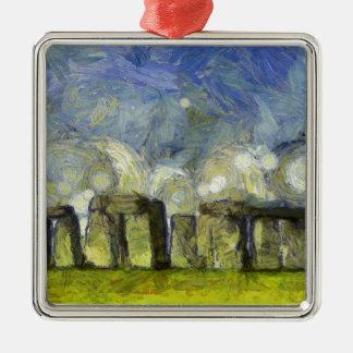 vangogh stonehenge metal ornament