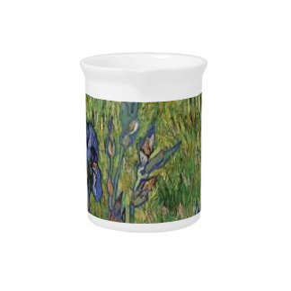 Vangogh The Iris Vintage Post impressionist Drink Pitcher