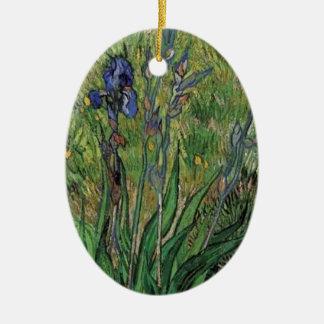 Vangogh The Iris Vintage Post impressionist Christmas Ornaments