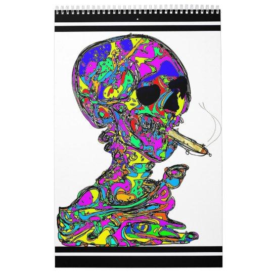 VanGogh's Calavera Skull Smoking Cigarette Calendar
