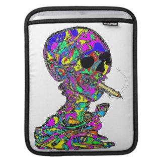 VanGogh's Calavera Skull Smoking Cigarette iPad Sleeve