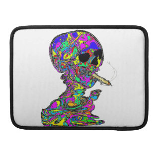 VanGogh's Calavera Skull Smoking Cigarette Sleeve For MacBook Pro