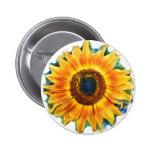 VanGough Sunflowers ,button