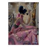 Vanidad del rosa del polvo de Trish Biddle Tarjeta De Felicitación
