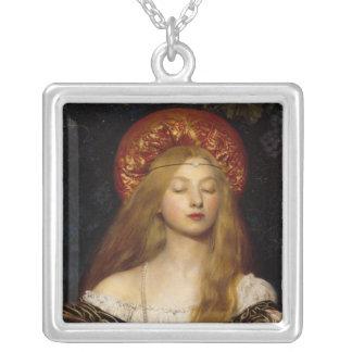 Vanidad - doncella medieval colgante cuadrado