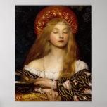 Vanidad - doncella medieval impresiones