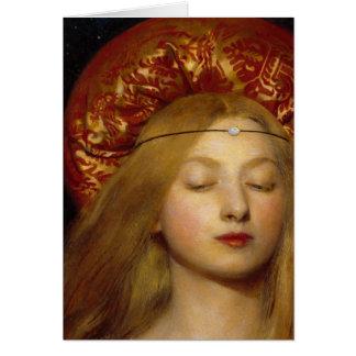 Vanidad - doncella medieval tarjeta de felicitación
