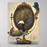 Vanidad - pintura de los pájaros del surrealismo d impresiones