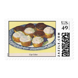 Vanilla and Chocolate Cup Cakes Postage Stamp