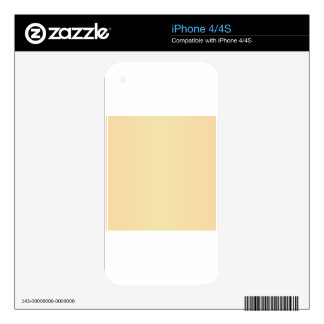 Vanilla and Deep Champagne Gradient Skins For iPhone 4S