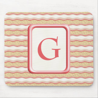 Vanilla and Strawberry Striped Shortbread Cookies Mouse Pad