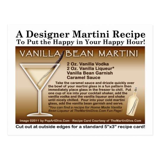 Vanilla Bean Martini Recipe Postcard