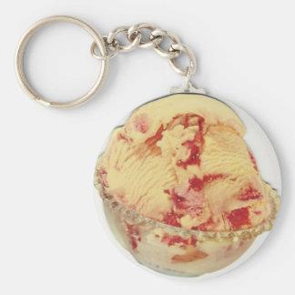vanilla cherry bowl ice cream keychain