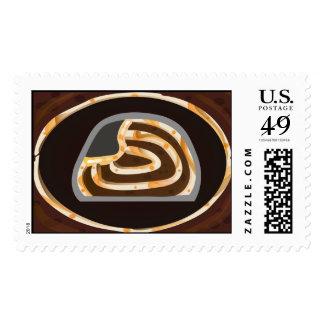 Vanilla Choco Roll Cake Postage Stamp