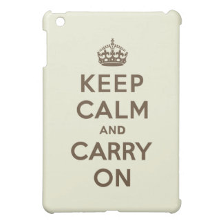 Vanilla Chocolate Keep Calm and Carry On Cover For The iPad Mini