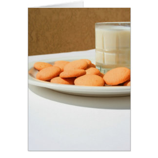 Vanilla Cookies and a Glass of Milk Greeting Card, Card
