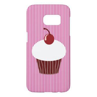 Vanilla Cupcake and Pink Stripes SG7 Case