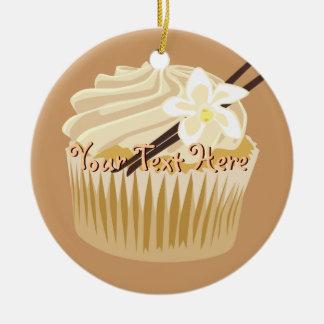 Vanilla Cupcake Ceramic Ornament