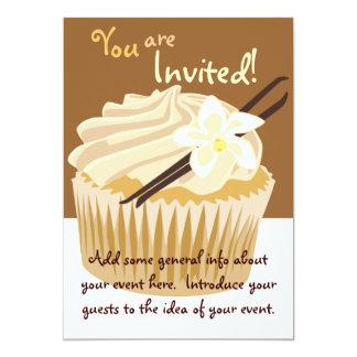 Vanilla Cupcake Invitation