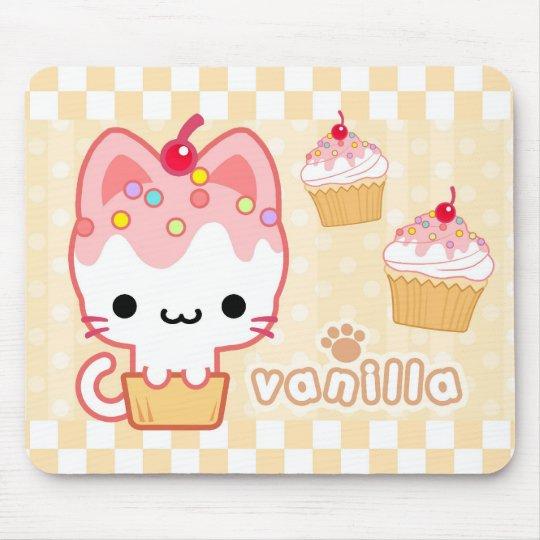Vanilla Cupcake Kitty Mousepad