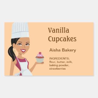 Vanilla Cupcake Label Character Design #1 Sticker