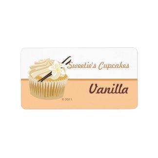 Vanilla Cupcake Labels