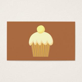 Vanilla Cupcake on Brown. Business Card
