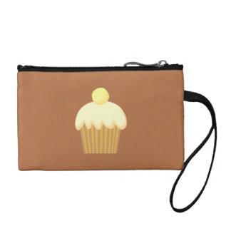 Vanilla Cupcake on Brown. Coin Wallet