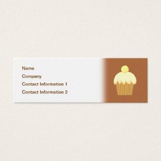 Vanilla Cupcake on Brown. Mini Business Card