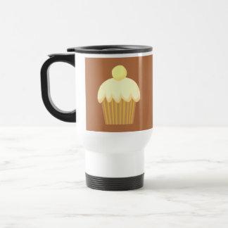 Vanilla Cupcake on Brown Coffee Mug