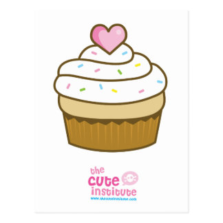 vanilla cupcake postcard