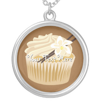 Vanilla Cupcake Silver Plated Necklace