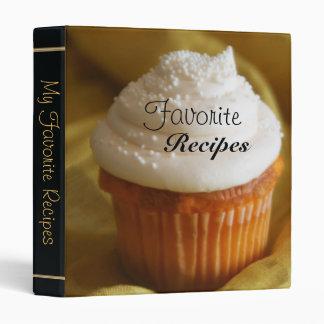 Vanilla Cupcake Sweet Desert Recipe Binder