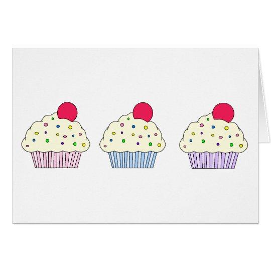 Vanilla Cupcakes Card
