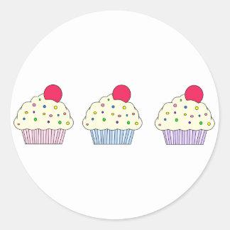 Vanilla Cupcakes Classic Round Sticker