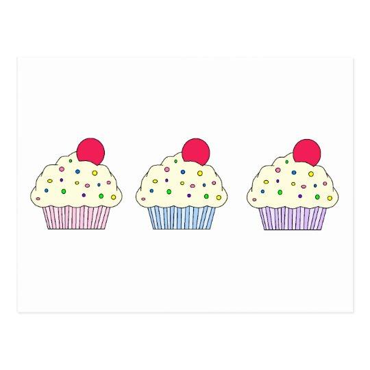 Vanilla Cupcakes Postcard