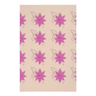 Vanilla ethno summer Lotus flowers Stationery