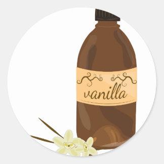Vanilla Extract Classic Round Sticker