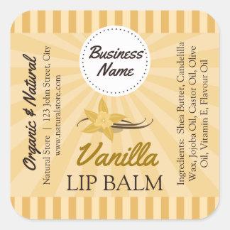 """Vanilla Gold - Lip Balm Label - 1.25"""" Square"""
