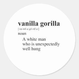 VANILLA GORILLA ROUND STICKER
