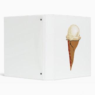 Vanilla Ice Cream Cone Vinyl Binder
