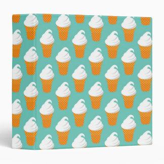 Vanilla Ice Cream Cone Pattern Vinyl Binders
