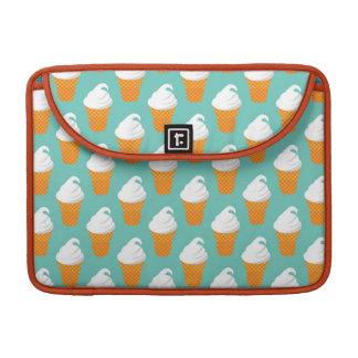 Vanilla Ice Cream Cone Pattern Sleeves For MacBooks