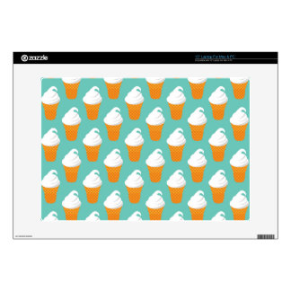 Vanilla Ice Cream Cone Pattern Skins For Laptops