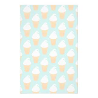 Vanilla Ice Cream Cone Pattern Stationery